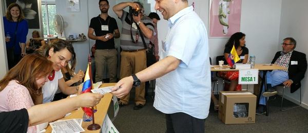 Consulado de Colombia en Bruselas concluyó con normalidad la segunda vuelta de las elecciones presidenciales