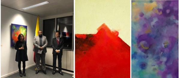 """Inauguración en el Consulado General de Colombia en Bruselas de la exposición """"…entre atmósferas"""""""