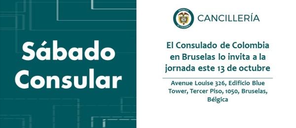 El Consulado de Colombia en Bruselas invita al Sábado Consular que se realizará el 13 de octubre de 2018