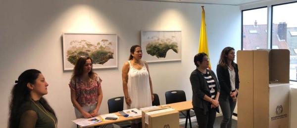 Iniciaron elecciones presidenciales en el Consulado de Colombia en Bruselas