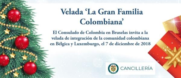 El Consulado de Colombia en Bruselas invita a la velada de integración de la comunidad colombiana en Bélgica y Luxemburgo, el 7 de diciembre de 2018